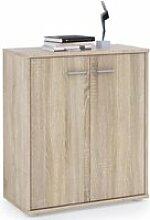 Buffet firmin, commode meuble de rangement avec 2