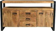 Buffet HARLEM - 2 portes & 3 tiroirs - Bois de