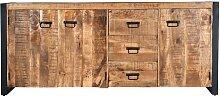 Buffet HARLEM - 3 portes et 3 tiroirs - Bois de