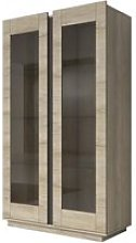 Buffet haut 6 étagères en verre avec vitrine