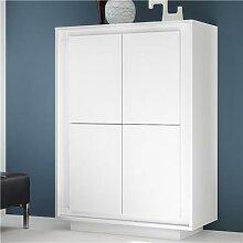 Buffet haut design blanc laqué ERINE 5