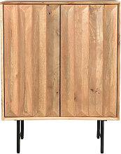 Buffet haut en manguier massif avec portes en