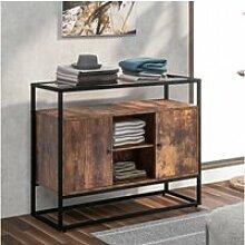 Buffet industriel vintage, meuble de rangement