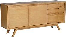 Buffet JAMBI - 2 portes et 3 tiroirs - Teck -