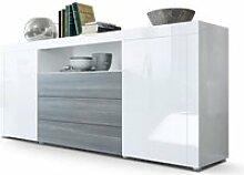 Buffet laqué blanc / Avola-Anthracite 167 cm