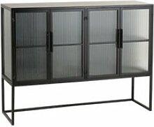 Buffet moderne en métal et verre gio 1041