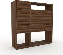Buffet - Noyer, modèle flexible, avec tiroir