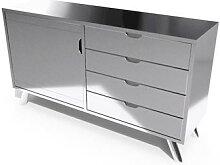 Buffet scandinave bois Viking Gris Aluminium