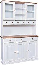 Buffet  vaisselier 5 portes 6 tiroirs