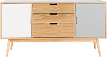 Buffet vintage 2 portes 3 tiroirs