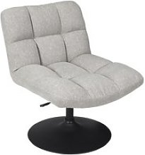 Bulla - fauteuil pivotant tissu gris clair