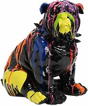 Bulldog collier assis noir - Amadeus - Noir