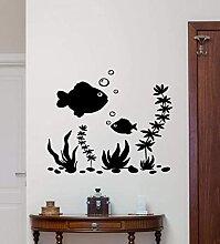 Bulle poisson algue maison salon canapé chambre