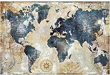 Bullidea Abstrait Carte du Monde peintures sur