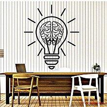 Bureau ampoule cerveau stickers muraux 56X65 cm