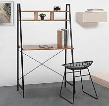 Bureau au design industriel minimaliste 84x142