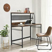 Bureau avec étagère Vasagle