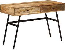 Bureau avec tiroirs Bois solide de manguier