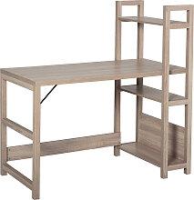 Bureau bibliothèque 3 étagères aspect bois
