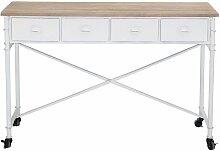 Bureau blanc Auzits en bois de sapin