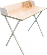 Bureau blanc avec rangement design industriel