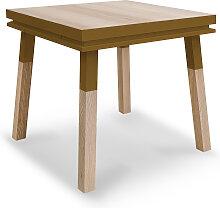 Bureau carré en bois massif avec tiroir tabac de