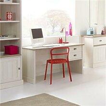 Bureau couleur blanc et bois YUKA