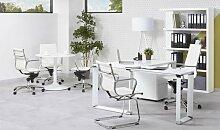 Bureau d'angle blanc design moderne - Arnold