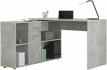 Bureau d'angle CARMEN table avec meuble de