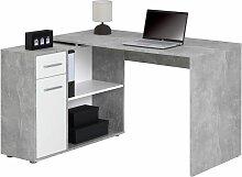 Bureau d'angle ISOTTA table avec meuble de