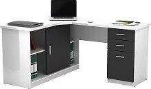 Bureau d'angle NORWY - 2 portes & 2 tiroirs -