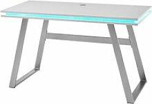 Bureau d'ordinateur coloris blanc mat avec