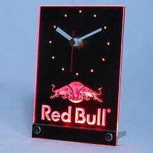 Bureau de Table boisson Engergy Bull, 3D horloge