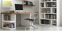 Bureau design avec étagères de rangement, chêne