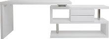 Bureau design modulable avec rangement 2 tiroirs