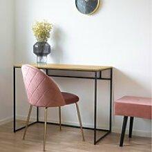 Bureau design - seaford - 100 cm - chêne / noir -