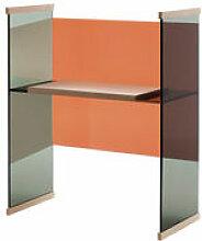 Bureau Diapositive / Bas - H 124 cm - Glas Italia