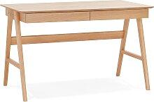 Bureau droit design 'SIROKO' en bois
