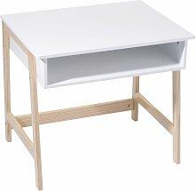 Bureau en bois enfant Douceur - L. 58 x H. 52 cm -
