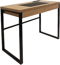 Bureau en métal et bois Industriel - 100 x 50 x