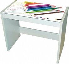 Bureau en verre design Crayons IberoDepot