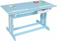 Bureau enfant meuble chambre bleu plateau
