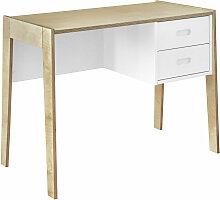 Bureau enfant Panneaux de bois  Blanc, bois