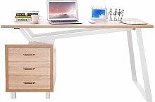 Bureau Informatique Design avec tiroirs de