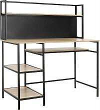 Bureau informatique design industriel 4 étagères