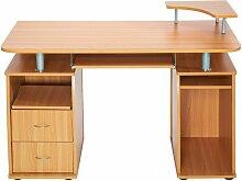 Bureau informatique meuble 115 x 55 x 87 cm marron