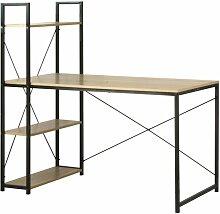 Bureau L120cm avec 4 étagères style industriel -