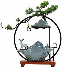 Bureau Lampe de bureau Fontaine Cercle Yuetan