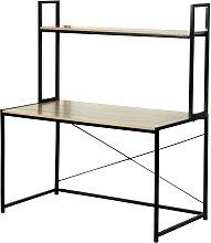 Bureau largeur 120cm avec 1 étagère de rangement