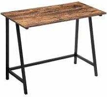 Bureau larry bois métal 100x 50x 75 cm